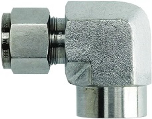 Stainless Steel Compression 90-Degree Elbow FNPT