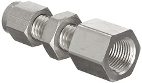 Stainless Steel Compression Bulkhead Female Pipe Connector