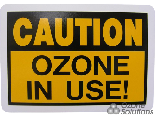 CAU-7x10 : Caution Ozone Sign