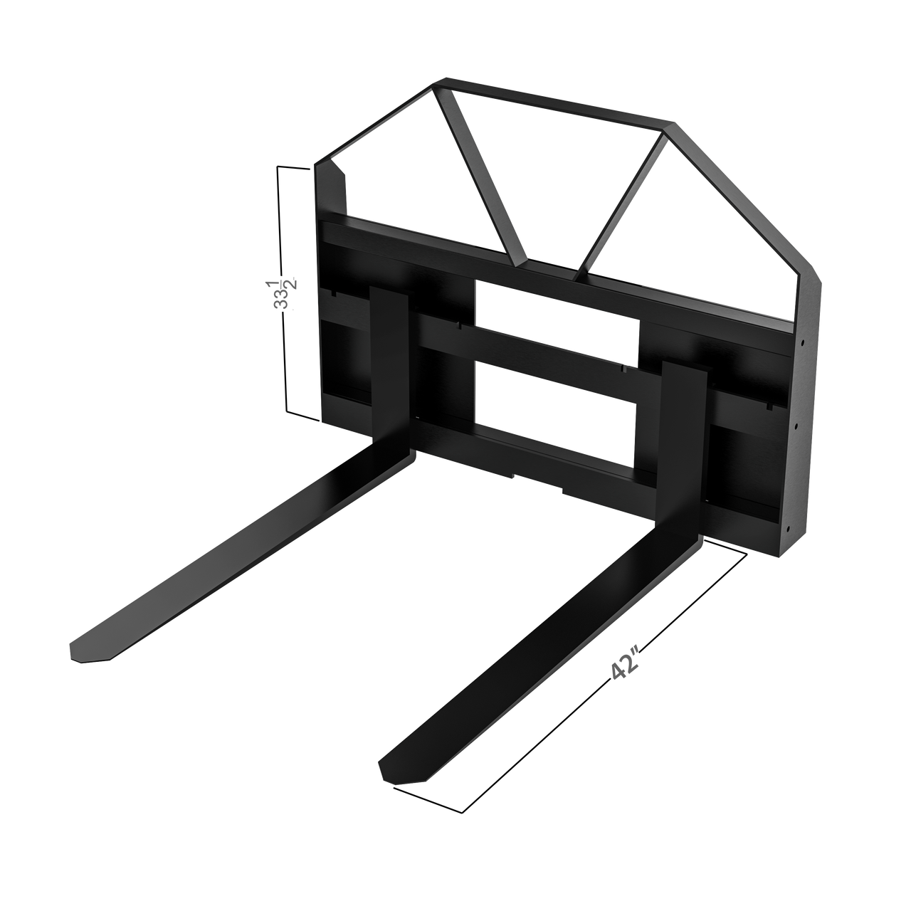 """Universal QA Compact Pallet Forks w/ 42"""" Forks"""