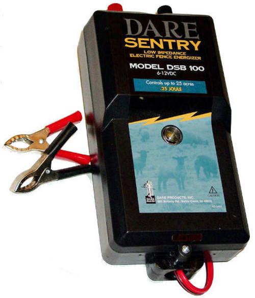 DARE® Sentry Battery Fence Energizer 12 Volt / 25 Acre DSB100 (DC)