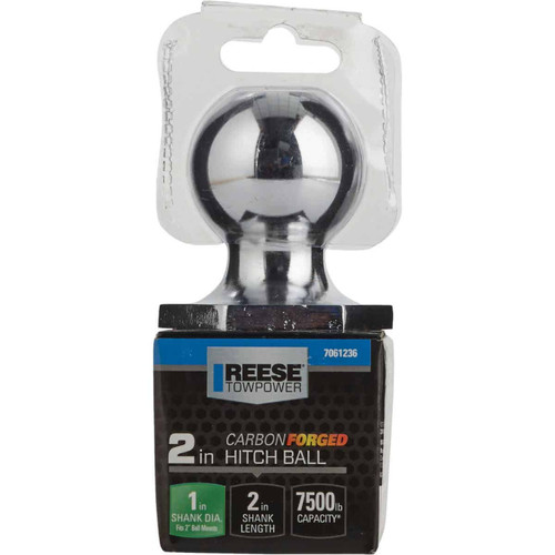 Reese Towpower Class IV Carbon Forged Interlock Hitch Ball, 2 In.