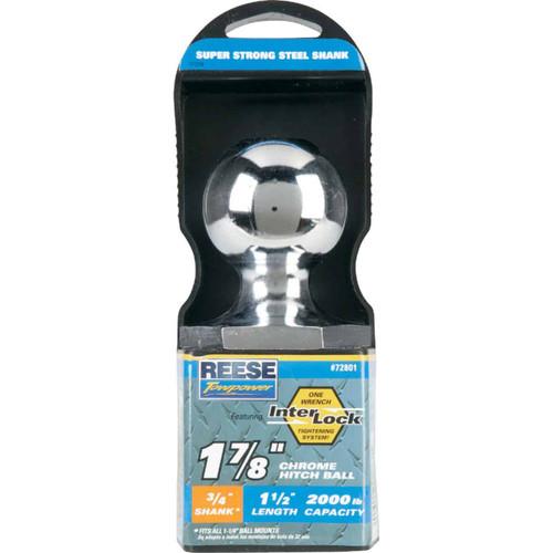 Reese Towpower Class I Interlock Hitch Ball, 1-7/8 In. x 3/4 In. x 1-1/2 In.