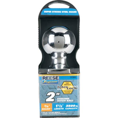 Reese Towpower Class II Interlock Hitch Ball, 2 In. x 3/4 In. x 1-1/2 In.