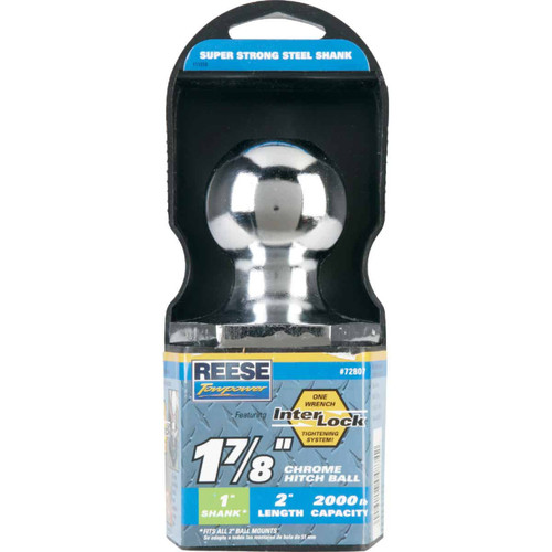 Reese Towpower Class I Interlock Hitch Ball, 1-7/8 In. x 1 In. x 2 In.