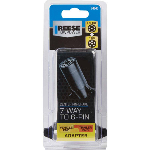 Reese Towpower 7-Blade to 6-Round Center Pin Brake Plug-In Adapter