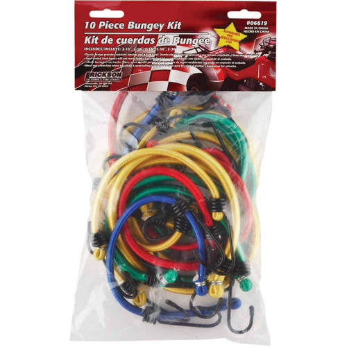 Erickson Assorted Vinyl Coated Wire Bungee Cord Set