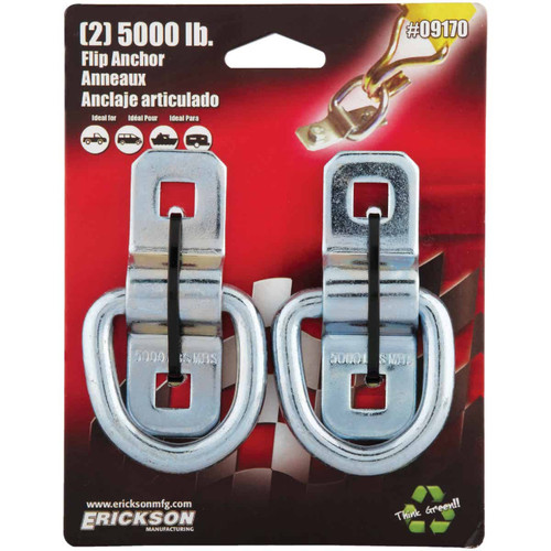 Erickson 2-Hole 5000 Lb. Anchor Ring (2-Pack)