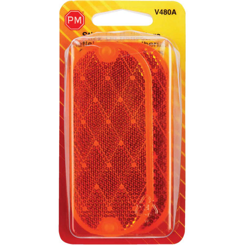 Peterson 1-7/8 In. W. x 4-3/8 In. H. Oblong Amber Oval Reflector (2-Pack)