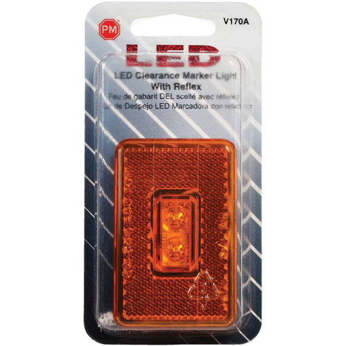Peterson Rectangle Amber LED Clearance Light