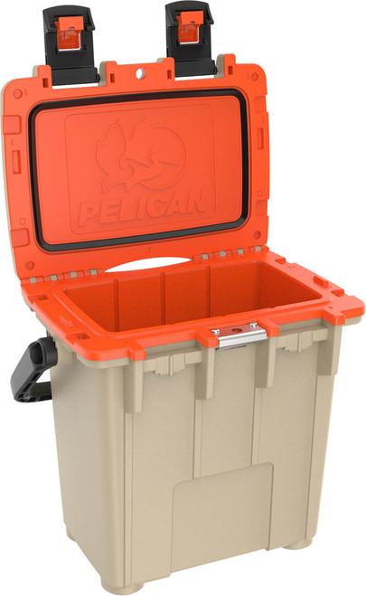 Pelican 20QT Elite Cooler, Tan & Orange