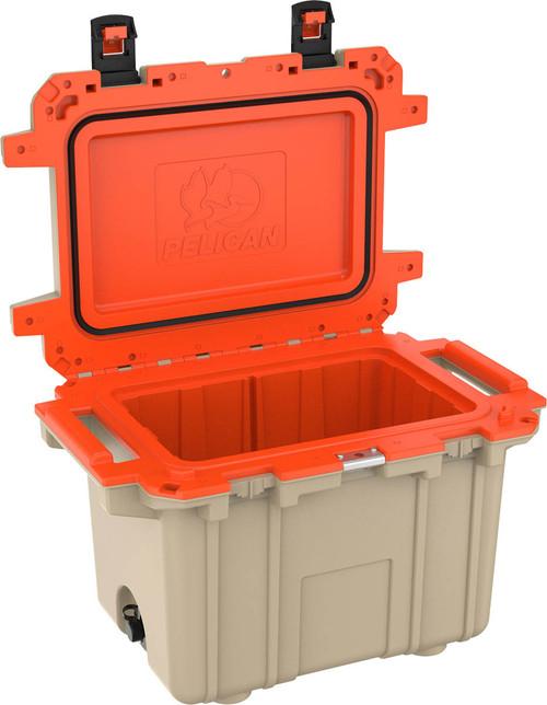 Pelican 50Q Elite Cooler, Tan & Orange
