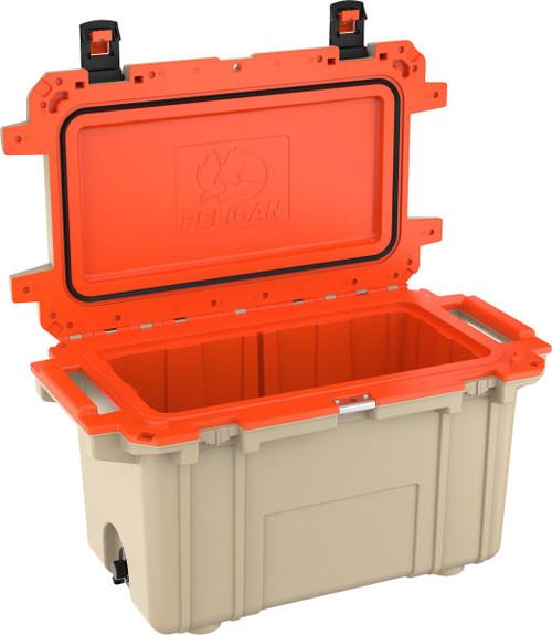 Pelican 70Q Elite Cooler, Tan & Orange