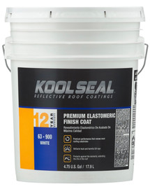 Kool Seal Premium Elastomeric 12 Year WHITE 4.75-Gallon