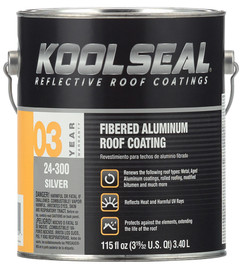 Kool Seal Fibered Aluminum Roof Coating