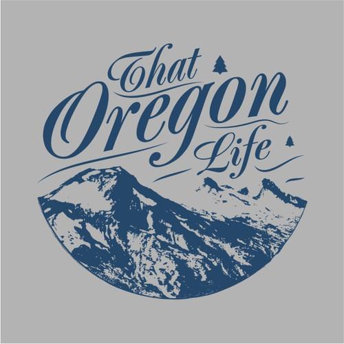That Oregon Life Three Sisters Grey Tee Shirt