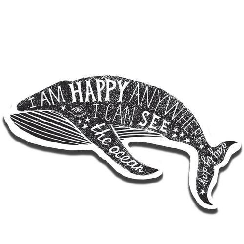 Happy Whale Sticker