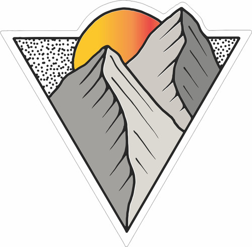Mountain Sunrise Inverted Sticker