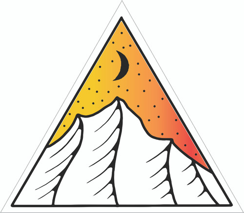Mountains And Stars Triangle sticker