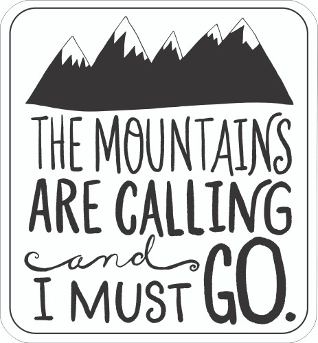 Scout Sticker - Mountains Calling