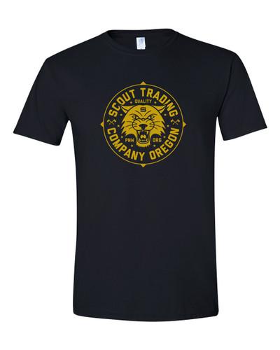 Scout T-Shirt Cat Logo Black