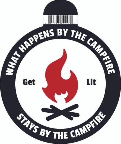Get Lit Campfire Sticker