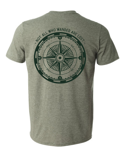 Scout T-shirt All Who Wander Green
