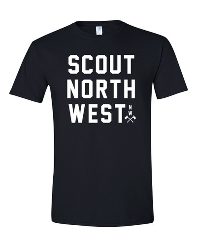 Scout T-Shirt Stacked Logo BLK
