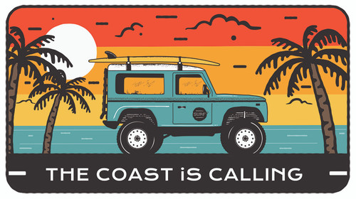 The Coast is Calling Rover Sticker