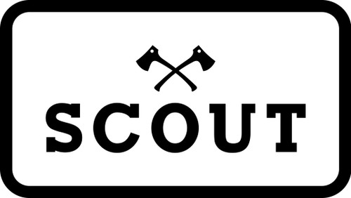 Scout White Classic Logo Patch