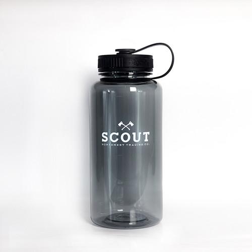 34oz Water Bottle Scout Classic Logo Black