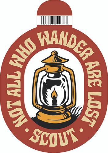 Not All Who Wander Lantern Sticker
