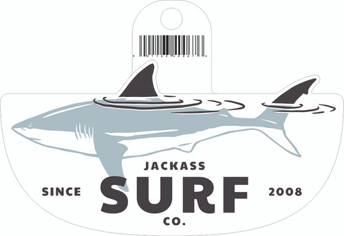 Jackass Shark Sticker