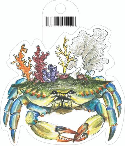Coral Crab Sticker