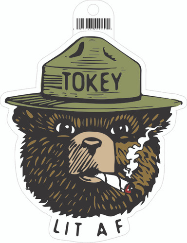 Green State Sticker Tokey Lit AF