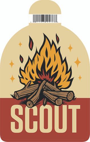 Scout Campfire Sticker