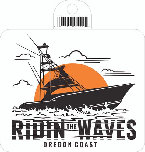 Ridin The Waves Sticker