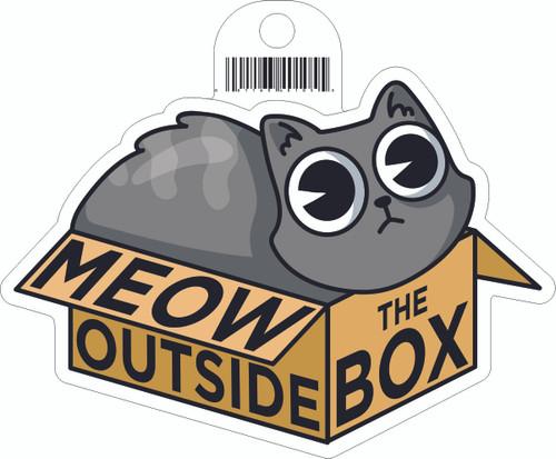 Meow Outside Sticker