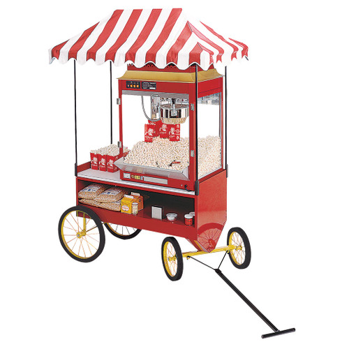 Four-Wheel Steerable Red Antique Wagon Base