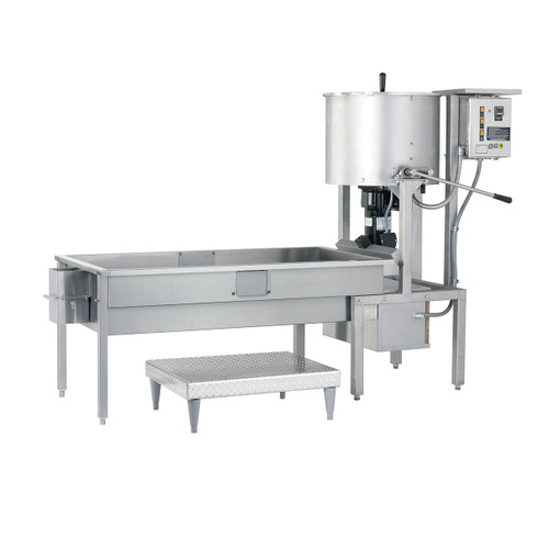 CMD100 Cooker and Coater on 6' Table with Blower