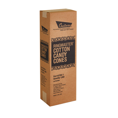 Cotton Candy Cones - 1000 CT/case