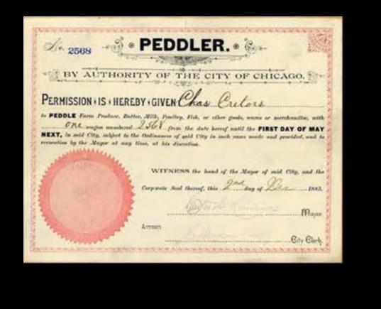 peddler certification