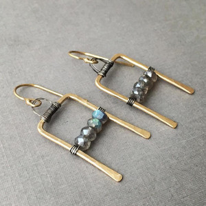 Gateway Earrings with Labradorite