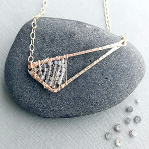 Abstract Triangle Necklace with Labradorite