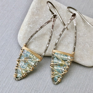 Aquamarine Dream Scatter Marquise Earrings