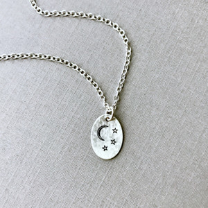"""I love you more than the moon & stars"" Necklace"