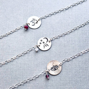 Meaningful Symbol Bracelet with Birthstone