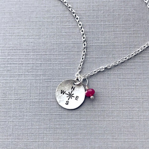 Compass Necklace - Circle