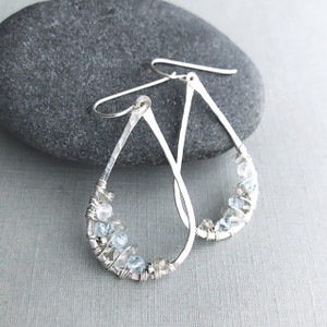 Teardrop Earrings with Aquamarine