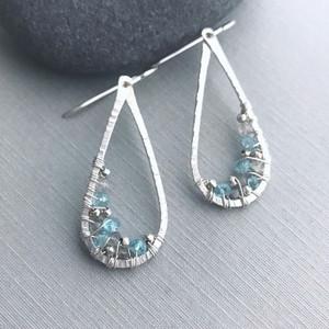 Sky Blue Topaz Teardrop Earrings